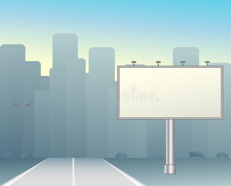 Tarjeta grande en la ciudad ilustración del vector