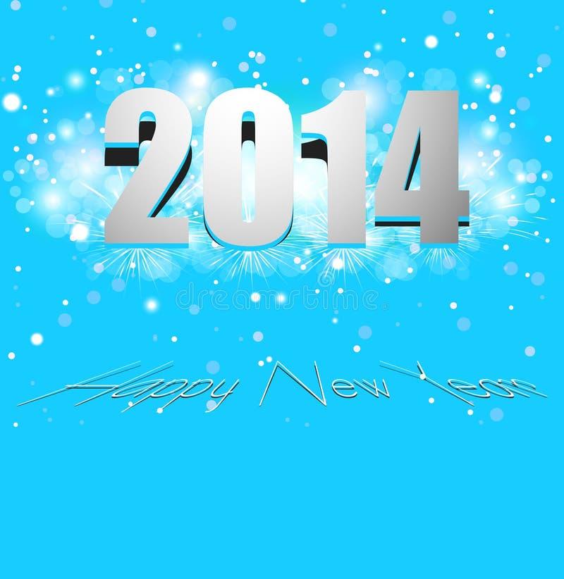 Tarjeta hermosa de la Feliz Año Nuevo 2014 de la celebración colorida libre illustration