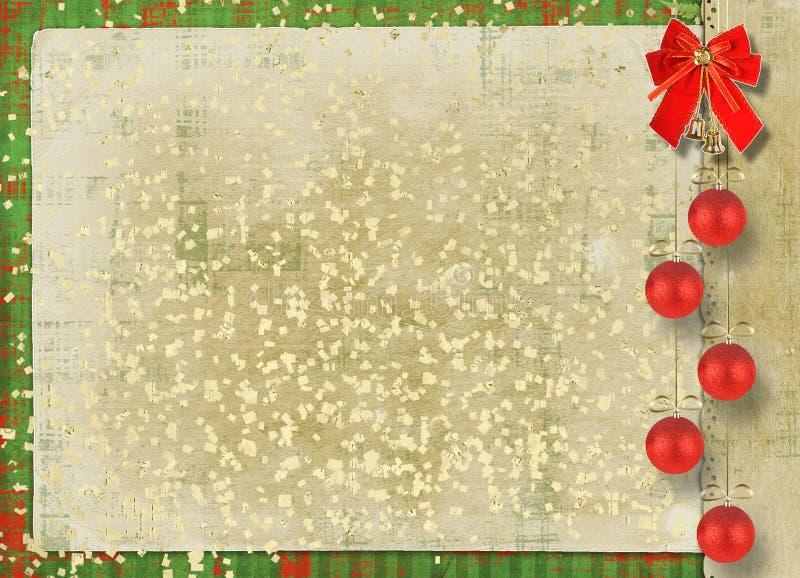 Tarjeta hermosa para la enhorabuena con el arqueamiento rojo ilustración del vector