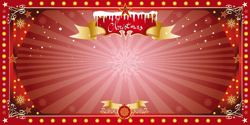 Tarjeta horizontal de la Navidad stock de ilustración