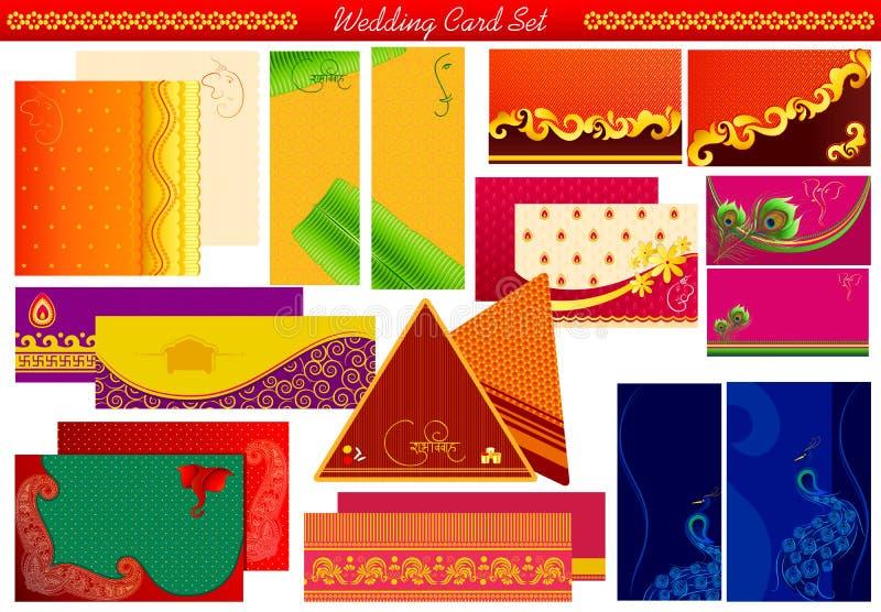 Tarjeta india de la invitación de la boda libre illustration