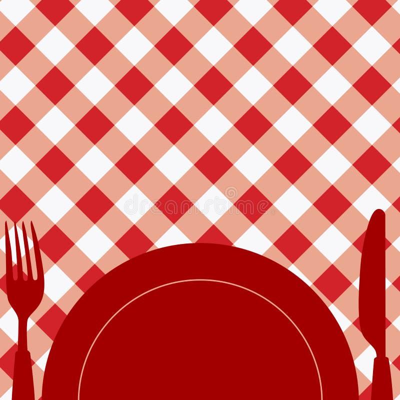 Invitación A Almorzar Ilustración Del Vector Ilustración De