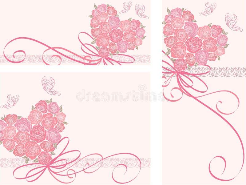 Tarjeta linda con el corazón ilustración del vector