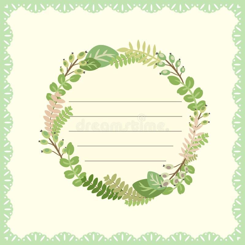 Tarjeta linda con el ramo de la flor libre illustration