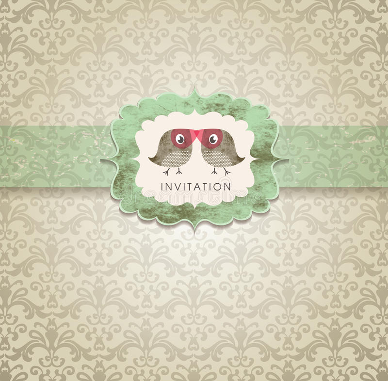 Tarjeta linda de la invitación libre illustration