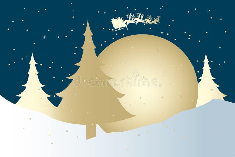 Tarjeta linda de Navidad con Santa Claus ilustración del vector