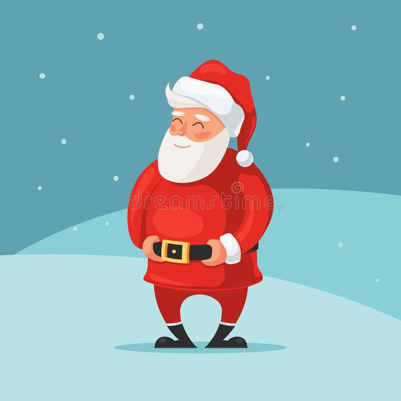 Tarjeta linda de Santa Claus libre illustration
