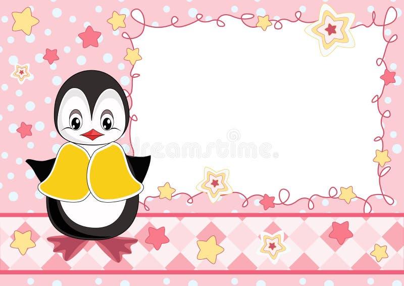 Tarjeta linda del bebé stock de ilustración