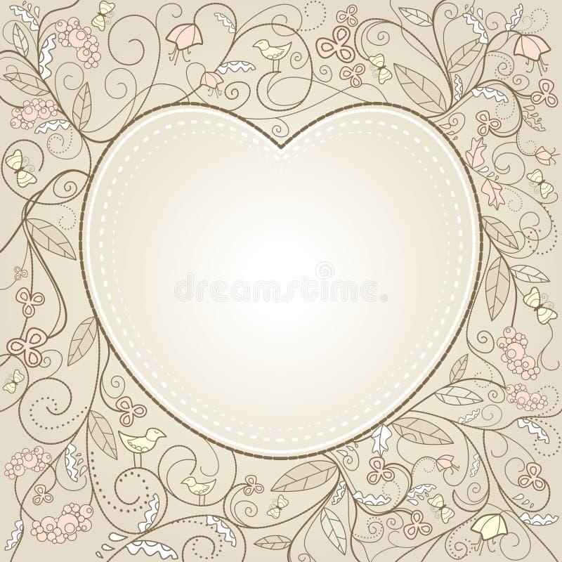 Tarjeta linda del día de tarjetas del día de San Valentín ilustración del vector