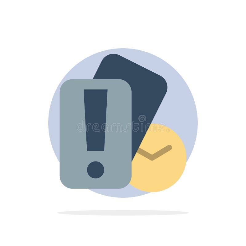 Tarjeta, mano, tenencia, icono plano del color de Abstract Circle Background del árbitro stock de ilustración