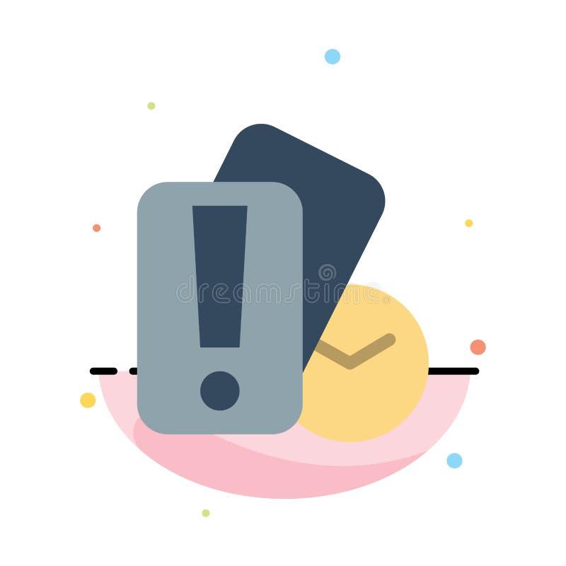 Tarjeta, mano, tenencia, plantilla del icono de Abstract Flat Color del árbitro stock de ilustración