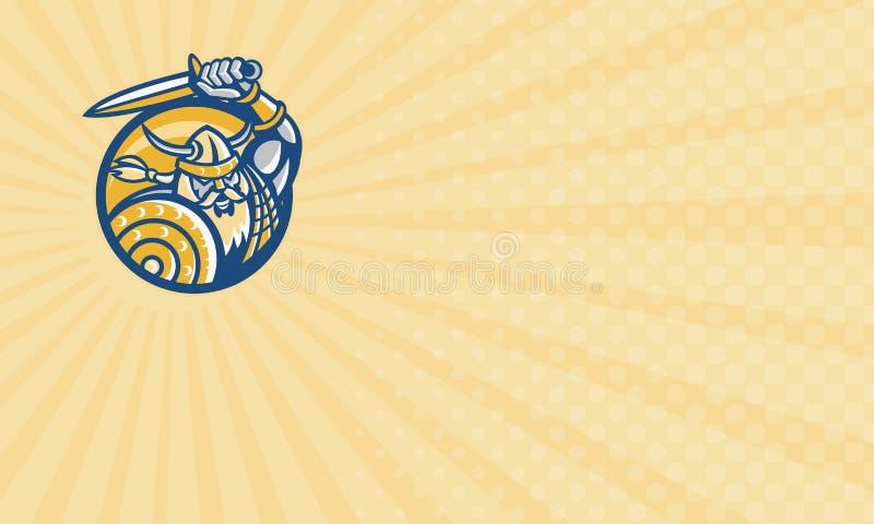 Tarjeta nórdica del negocio de representación de la protección libre illustration