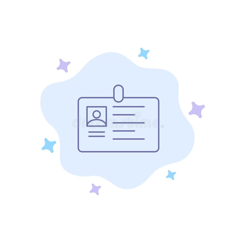 Tarjeta, negocio, corporativo, identificación, tarjeta de la identificación, identidad, icono azul del paso en fondo abstracto de ilustración del vector