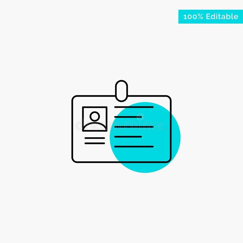 Tarjeta, negocio, corporativo, identificación, tarjeta de la identificación, identidad, icono del vector del punto del círculo de stock de ilustración