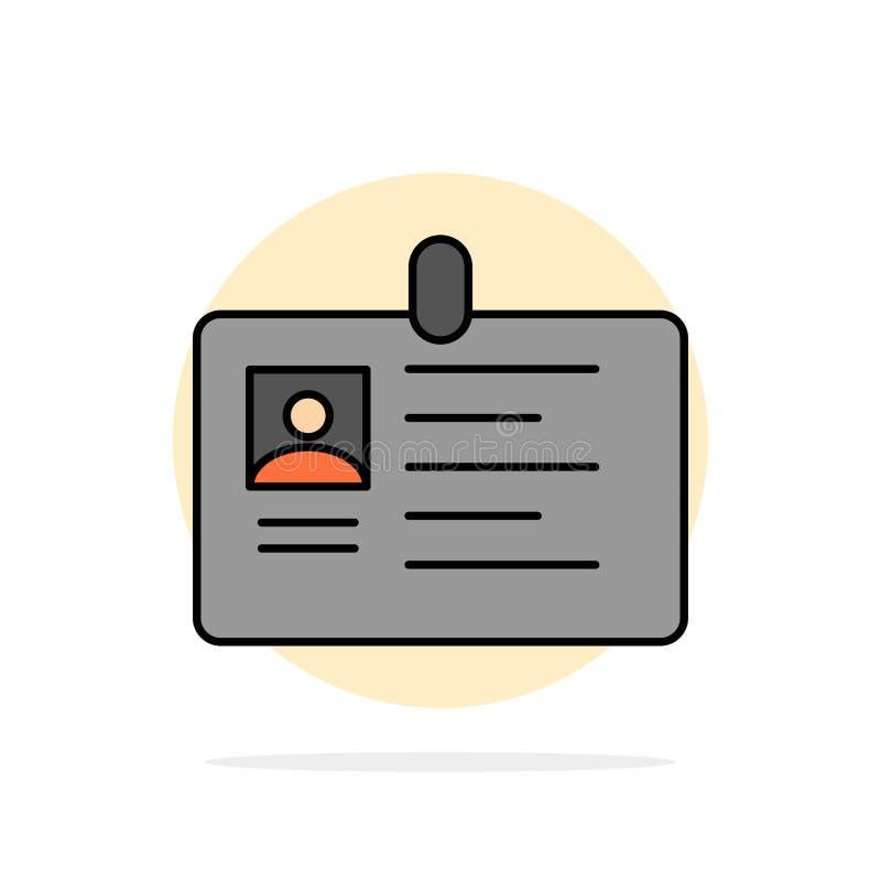 Tarjeta, negocio, corporativo, identificación, tarjeta de la identificación, identidad, icono plano del color de fondo del círcul libre illustration