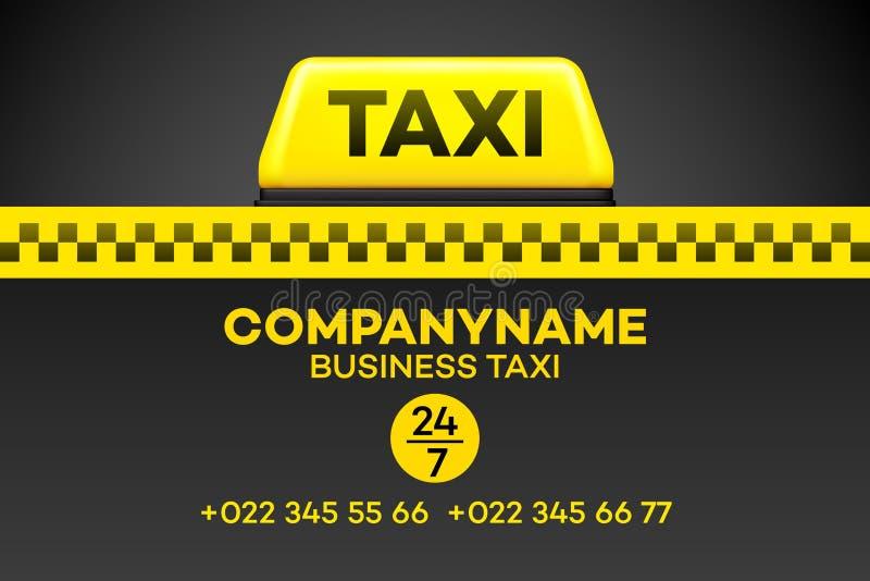 Tarjeta o aviador de visita del taxi Ilustración del vector stock de ilustración