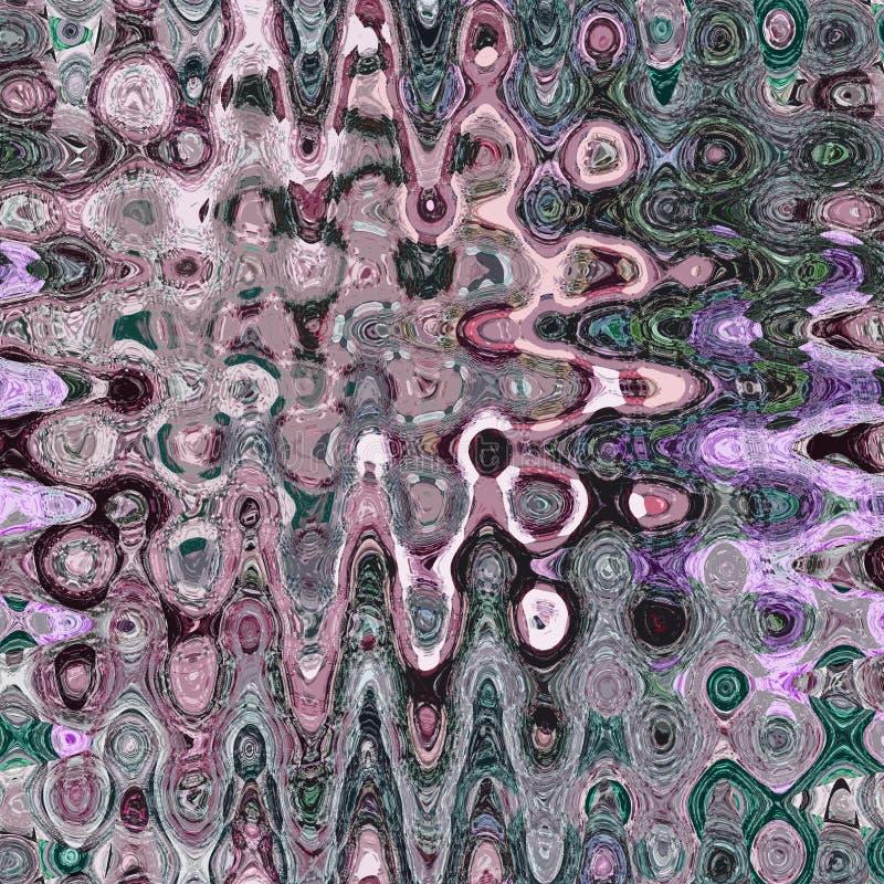 Tarjeta ondulada bastante abstracta en colores en colores pastel blured de la acuarela fotografía de archivo