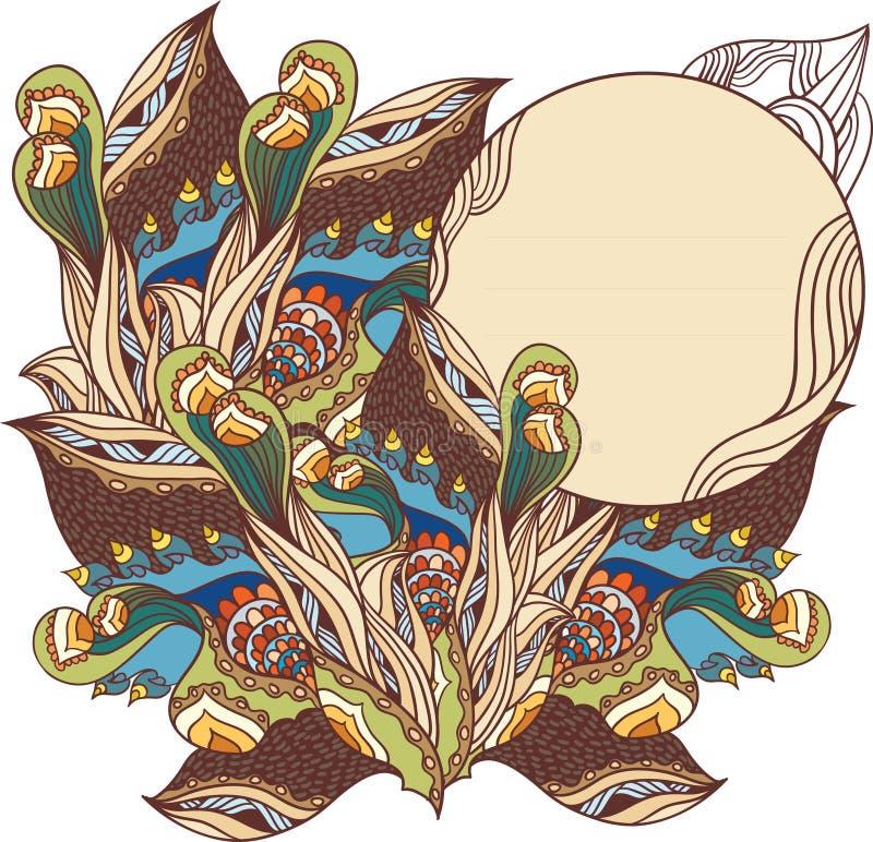 Download Tarjeta ornamental étnica ilustración del vector. Ilustración de doodles - 41902826