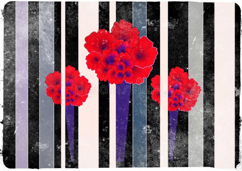 Tarjeta oscura de la flor de Karnation imagenes de archivo