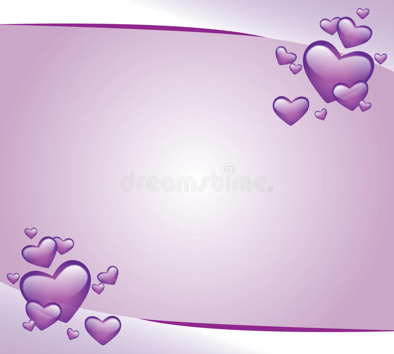 Tarjeta púrpura de la invitación libre illustration