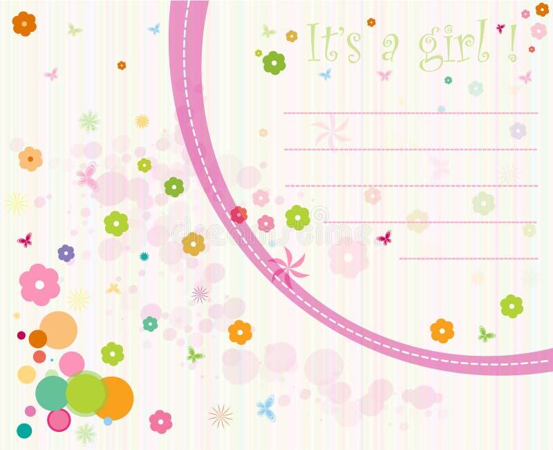 Tarjeta para el bebé stock de ilustración