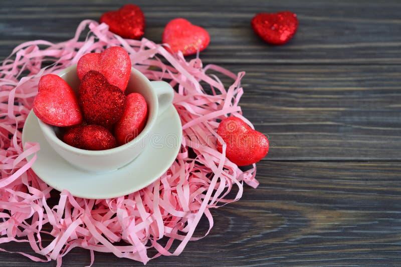 Tarjeta para el día de tarjeta del día de San Valentín fotografía de archivo