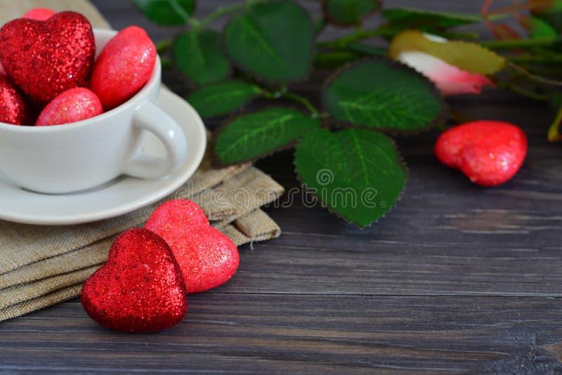 Tarjeta para el día de tarjeta del día de San Valentín foto de archivo
