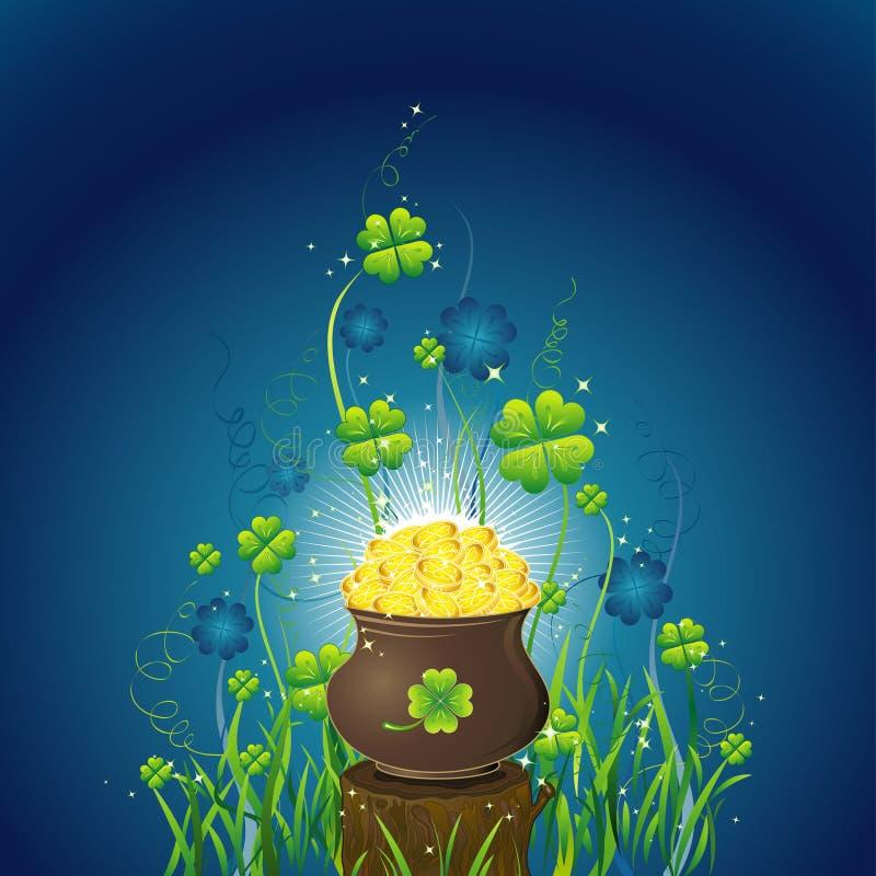 Tarjeta para el día del St. Patrick libre illustration