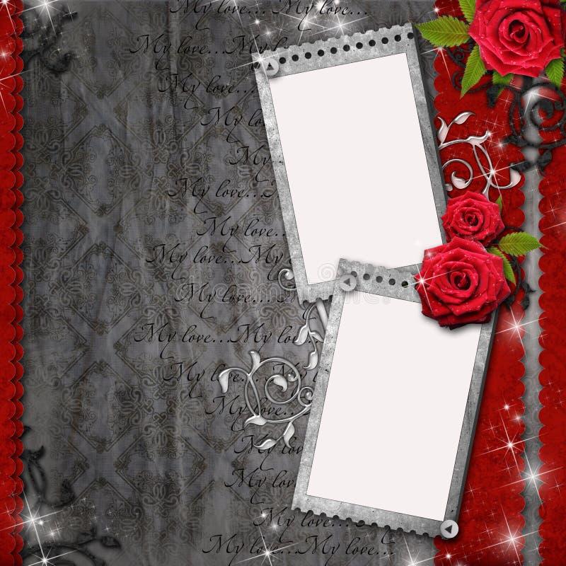 Tarjeta para la enhorabuena o la invitación foto de archivo libre de regalías