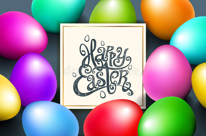 Tarjeta para la frase escrita mano de la enhorabuena Plantillas del texto de la tarjeta de felicitación con el fondo hermoso de l ilustración del vector
