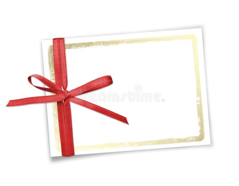 Tarjeta para la invitación o la enhorabuena al día de fiesta foto de archivo libre de regalías