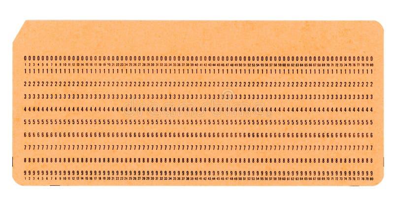 tarjeta perforada para programar foto de archivo