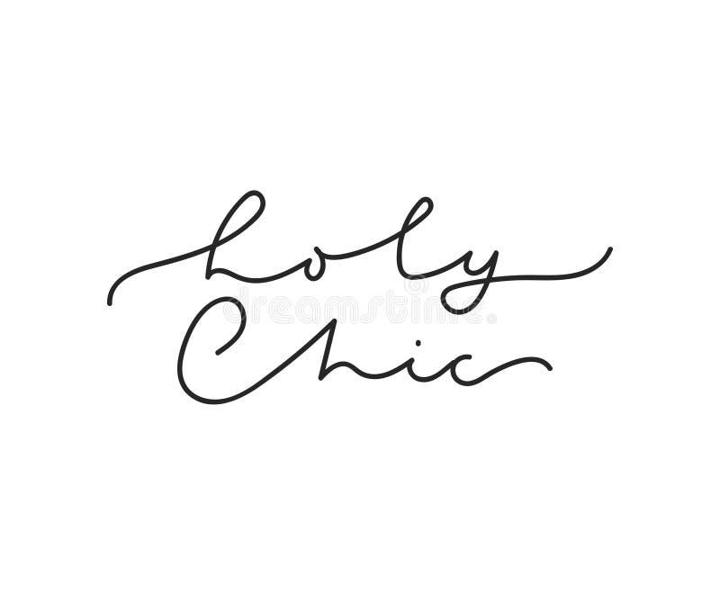 Tarjeta que pone letras de lujo elegante santa Tarjeta minimalistic inspirada impresi?n de la moda con las letras Ejemplo del vec libre illustration