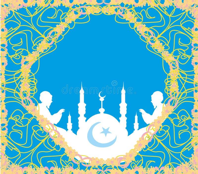 Tarjeta religiosa abstracta stock de ilustración