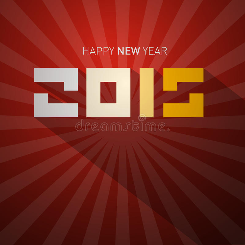 Tarjeta retra del Año Nuevo 2015 stock de ilustración