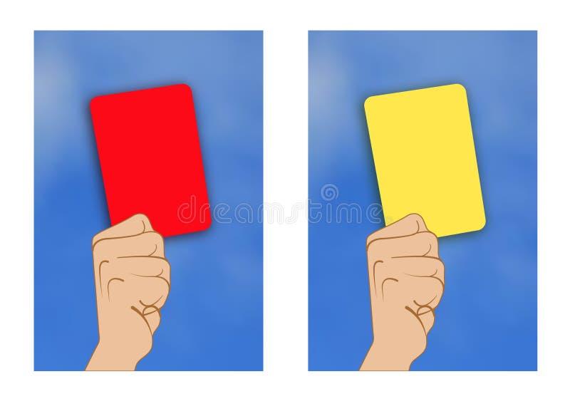 Tarjeta roja de la tarjeta amarilla ilustración del vector