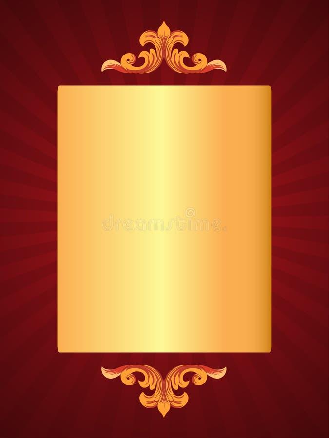 Tarjeta roja de lujo libre illustration