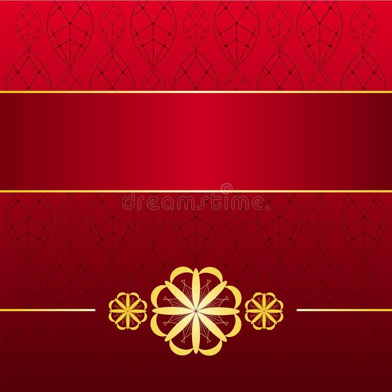 Tarjeta Roja De Oro Imagenes de archivo