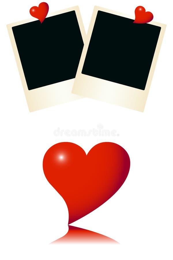 Tarjeta romántica del amor stock de ilustración