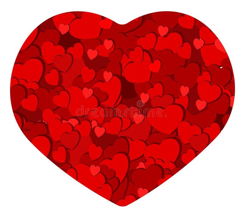 Tarjeta romántica del corazón foto de archivo libre de regalías