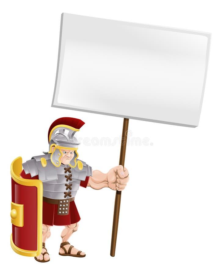 Tarjeta romana resistente de la muestra de la explotación agrícola del soldado ilustración del vector