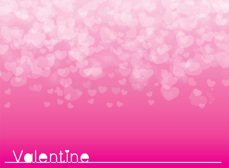 Tarjeta rosada del día de tarjetas del día de San Valentín del fondo del ejemplo del vector fotos de archivo libres de regalías