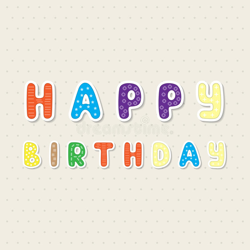 Tarjeta simple del vintage para el cumpleaños libre illustration