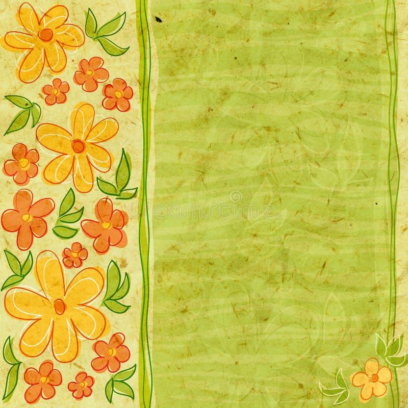 Tarjeta Textured con las flores libre illustration