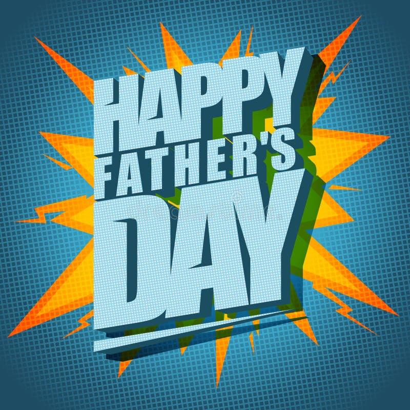 Tarjeta tipográfica del vector del padre del día feliz del ` s libre illustration