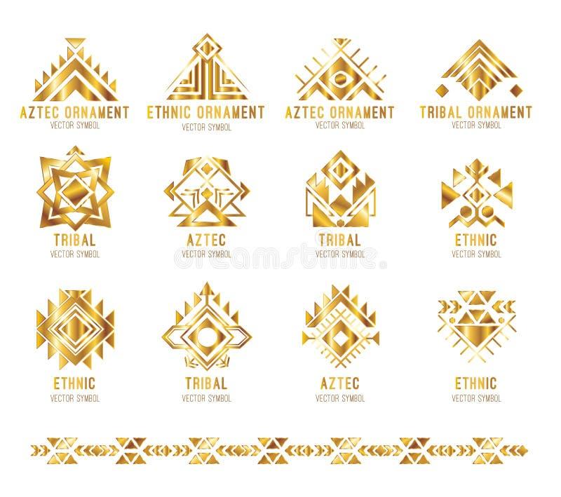 Tarjeta tribal del logotipo del negocio stock de ilustración