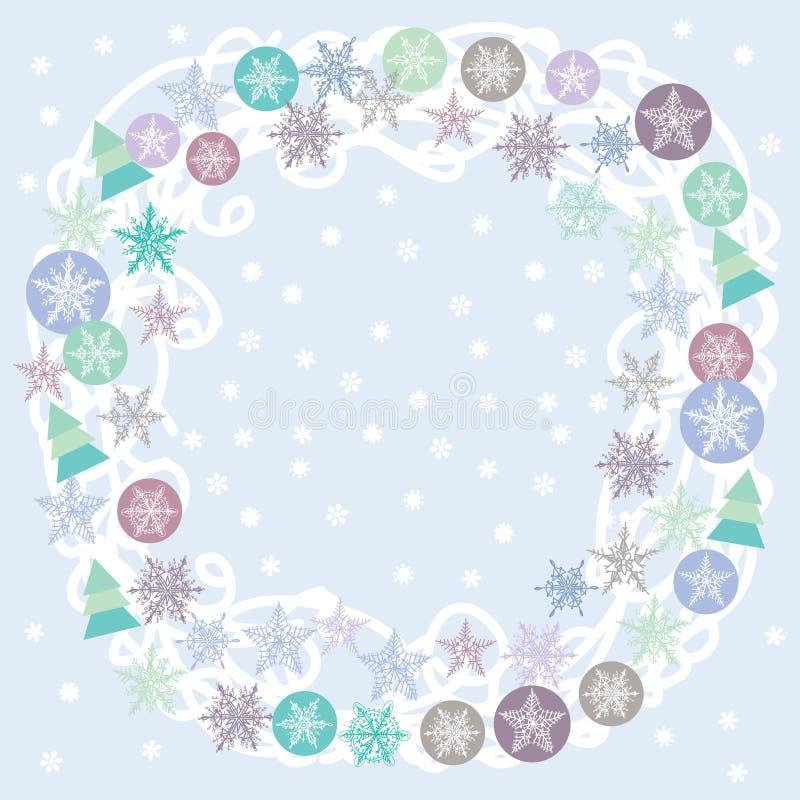 Tarjeta, turquesa, lila y púrpura de la Feliz Navidad libre illustration