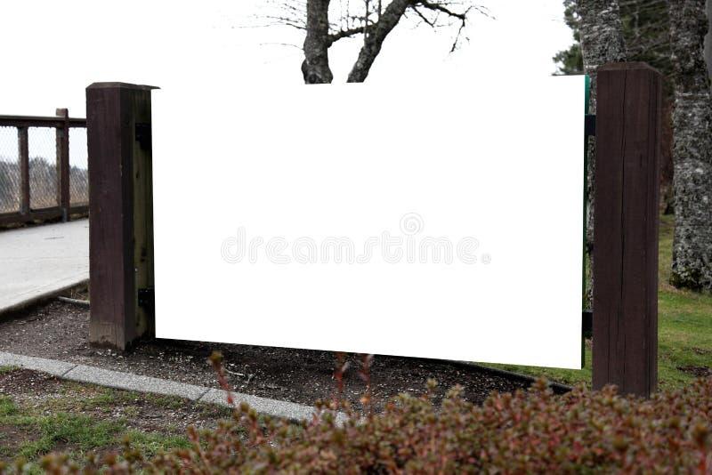 Tarjeta vacía del anuncio fotografía de archivo