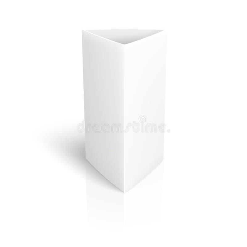 Tarjeta vertical del triángulo del papel en blanco. ilustración del vector