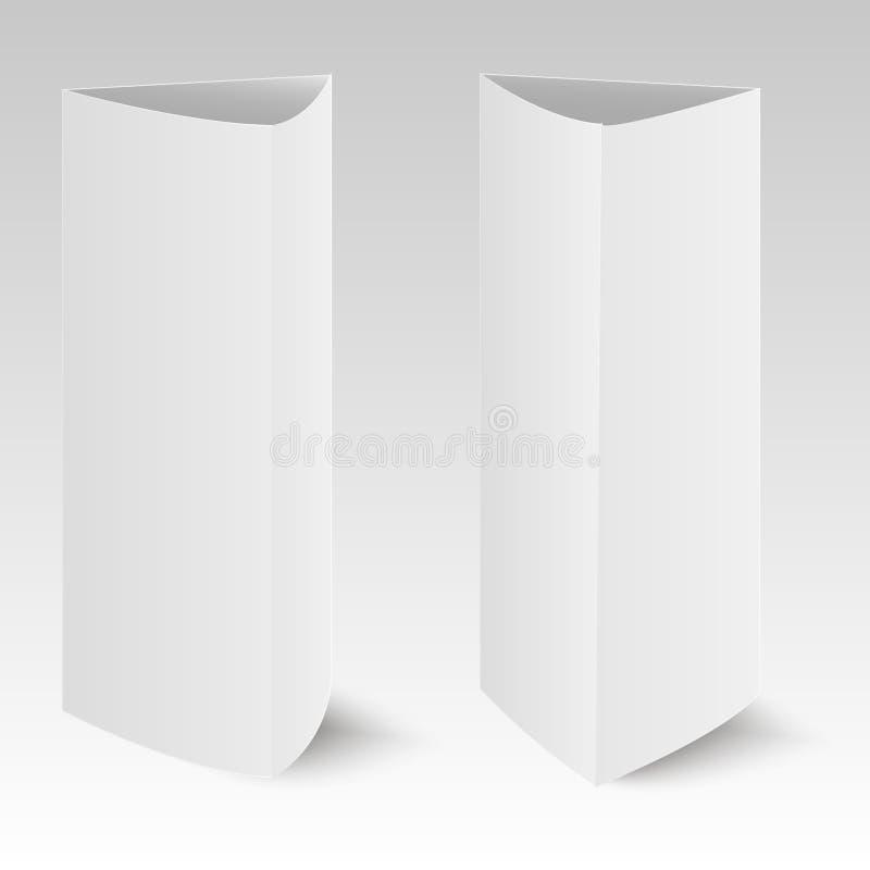 Tarjeta vertical del triángulo del papel en blanco Ilustración del vector ilustración del vector
